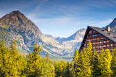 Hotel in the mountains — Stock Photo