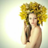 Beautiful autumn women. — Stock Photo