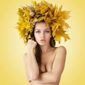 Mujeres hermosas de otoño. — Foto de Stock