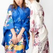 Two young women  in Japanese kimono — Stock Photo #57915279