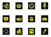 Office vector icons — Stock Vector
