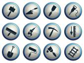 Symbols of building equipment — Stock Vector