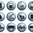 Oil and petrol industry objects icons — Stock Vector #75311973