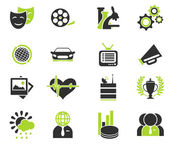 Media vector icon set — Stock Vector