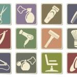 Постер, плакат: Barbershop symbols