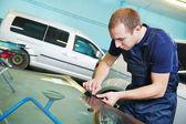 Windshield windscreen replacement — Stock Photo