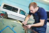 Windshield windscreen replacement — Stock Photo