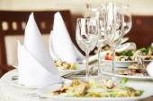 Catering table set — Stock Photo
