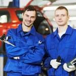 Repairman auto mechanic workers — Stock Photo