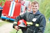 Firefighter fireman — Stock Photo