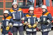 Firefighter crew — Stock Photo