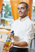 Waiter man in restaurant — Stock Photo