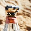 Surveyor equipment optical level outdoors — Stock Photo #52504811