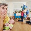 Confusion in children breeding — Stock Photo #52834335