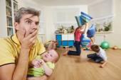 Confusion in children breeding — Stock Photo