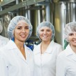 Pharmaceutical factory workers — Stock Photo #53550309