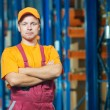 Warehouse worker in front storehouse — Stock Photo #53550523