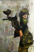 Paintball player — Stock Photo