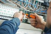Electrician work — Stock Photo