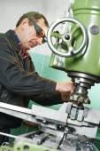 Milling machine operator — Stock Photo