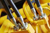 Hydraulics of machinery — Foto Stock