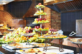 Fruits on buffet line in restaurant — Stock Photo