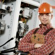 Electrician engineer worker — Stock Photo #55534703