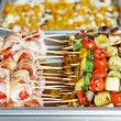 Catering service table with food set — Stock Photo #55920103