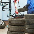 Car wheel tyre fitting or replacement — Stock Photo #56899071