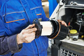 Car maintenance - filter replacing — Stock Photo