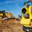 Surveyor equipment at construction site — Stock Photo #57108155