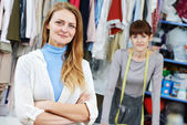 Female tailor stylist portrait — Stock Photo