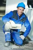 Industrial tiler portrait — Stock Photo