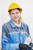 Female plasterer portrait — Stock Photo