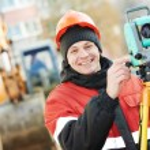 Surveyor works with theodolite — Stock Photo #57248765