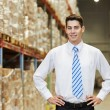 Manager worker in warehouse — Stok fotoğraf #57504375