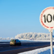 Winter speed limit sign — Stock Photo #59933701