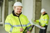 Construction builder worker at site — Stock Photo