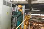 Electrician engineer worker — Stock Photo