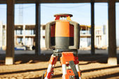 Laser levelling equipment at construction site — Stock Photo