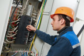 Electrician engineer worker — Stock Photo
