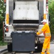 Urban recycling waste and garbage services — Stock Photo #66019853
