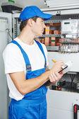 Inspektor dělník elektrikář — Stock fotografie