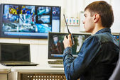 Security video surveillance — Stok fotoğraf