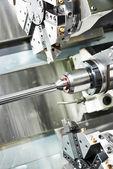 Metal turning process on machine tool — Stock Photo