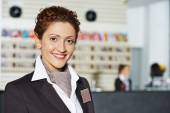 Hotel manager on reception — Stock Photo