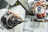 Machining center equipment with tools — Stock Photo