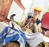 India Snake charmer — Stock Photo