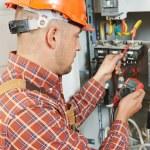 Electrician engineer worker — Stock Photo #67917433