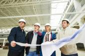 Architect and construction engineers worker — Stock Photo